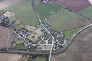Photo of Bettisfield village from the air